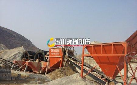安徽滁州大型石粉洗砂机工作现场