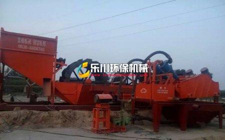 河南新乡三轮石粉洗沙机+细砂回收案例
